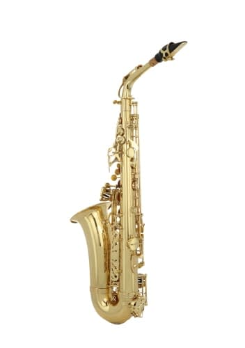 hanging saxophone product photography