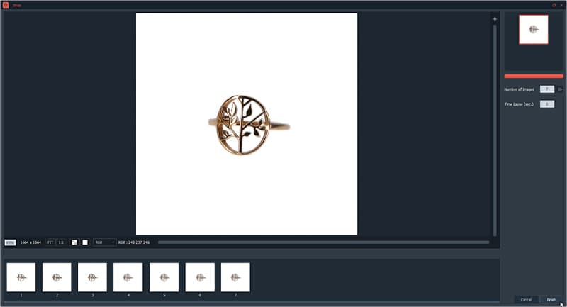 automatically focus stacking of jewelry