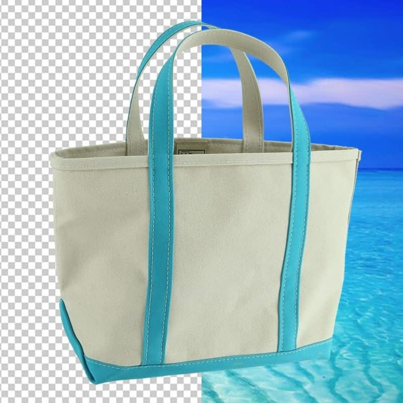 background removal when photographing a bag