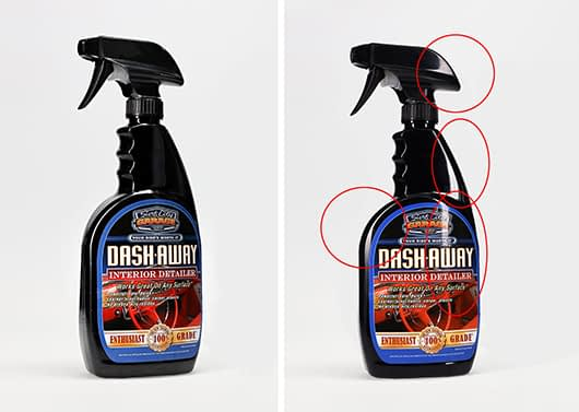 avoid reflections toplight product photography