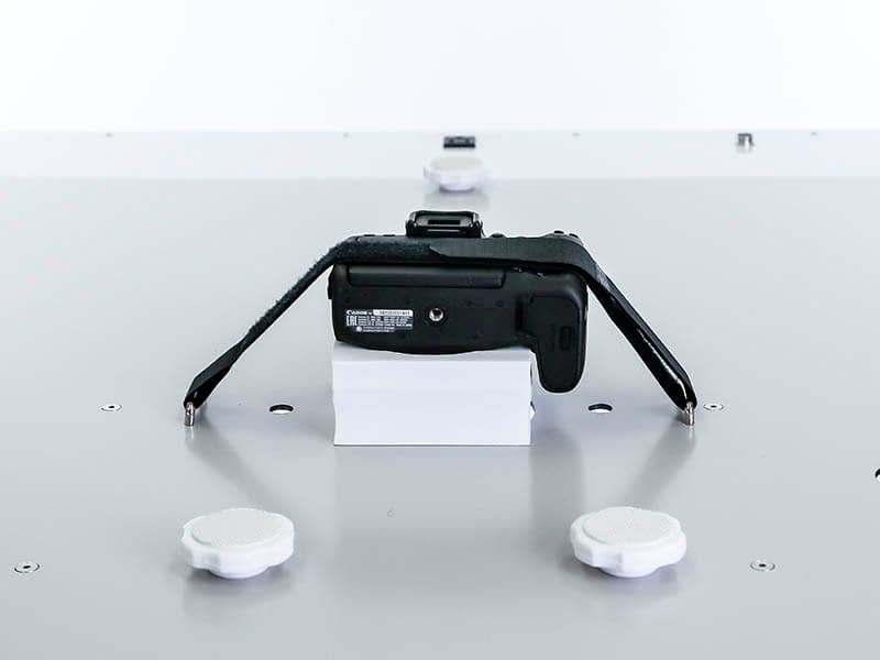 product photography with a photo studio taken from the top
