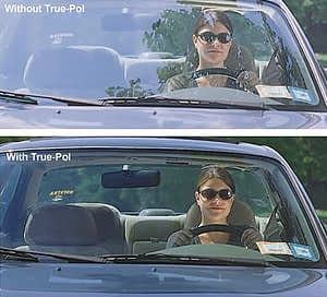 polarized camera with and without trues-pol