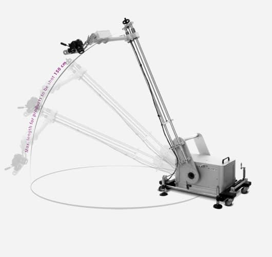 PackshotSphere 3D with articulated arm for constant shooting
