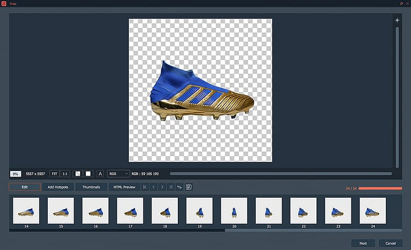 creating a 360 shoes animation with automask