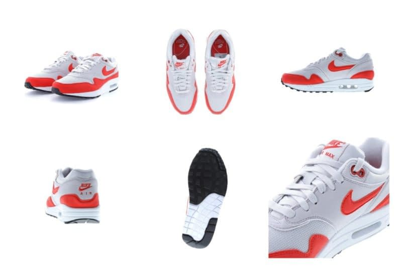 Nike Air Max shoes with 6 views on online store