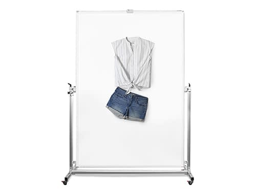 angled lay fashion apparel photography solution