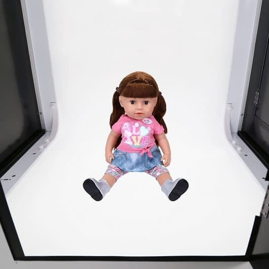 photo studio and software for toys photography