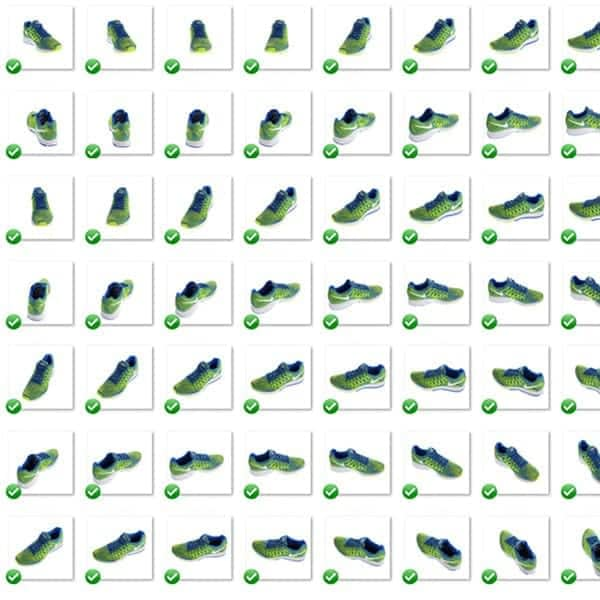 multi-view image of shoes