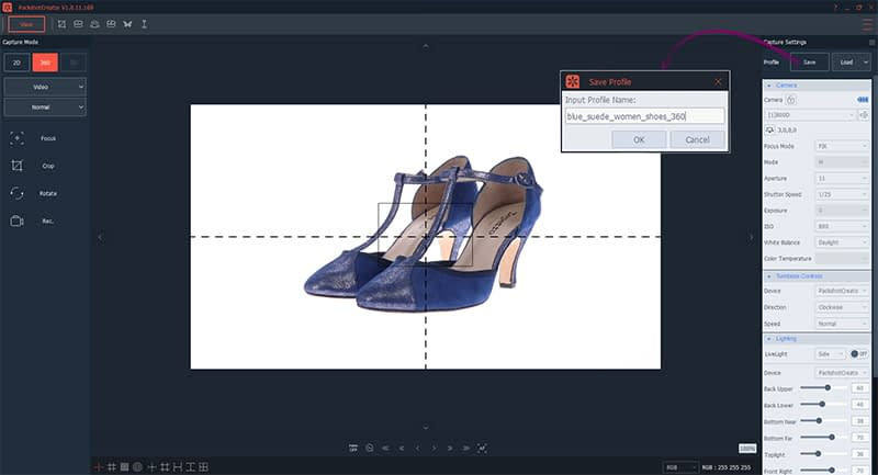 How to save the profile of a photography editing
