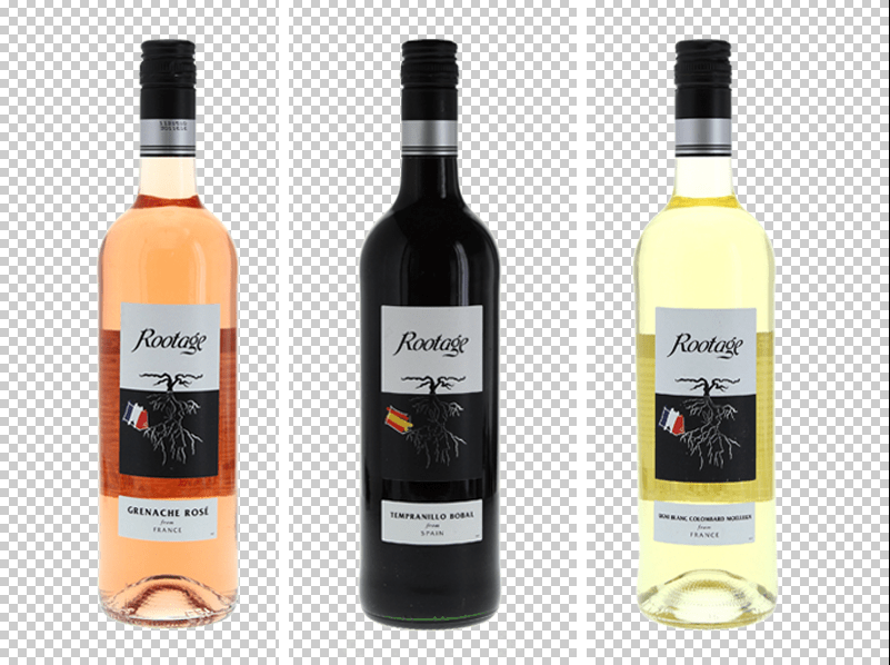 how to crop wine bottles photography