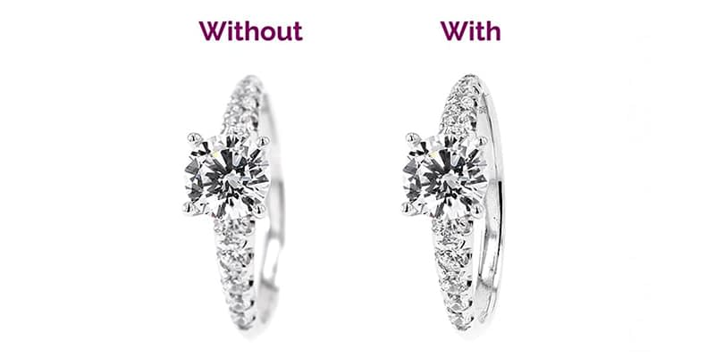 Before and after ring photograph focus stacking jewlery photography