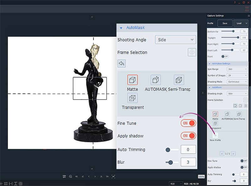 AutoMask feature presets