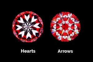 Hearts and Arrows view