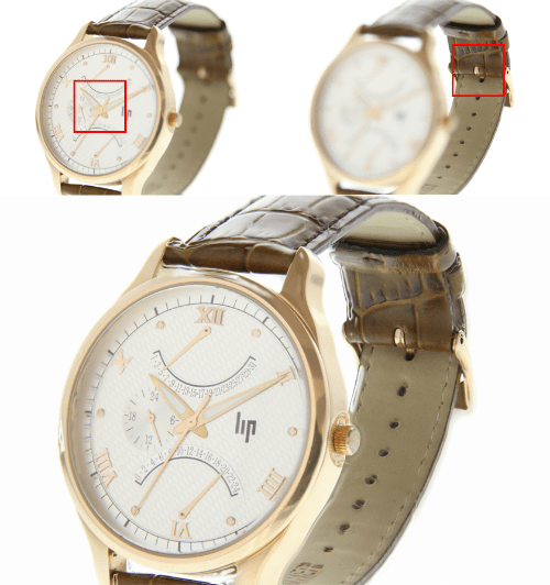 hyperfocus photography of a small watch for an online store