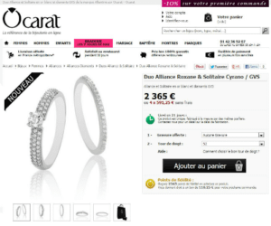 website of an online store of jewels