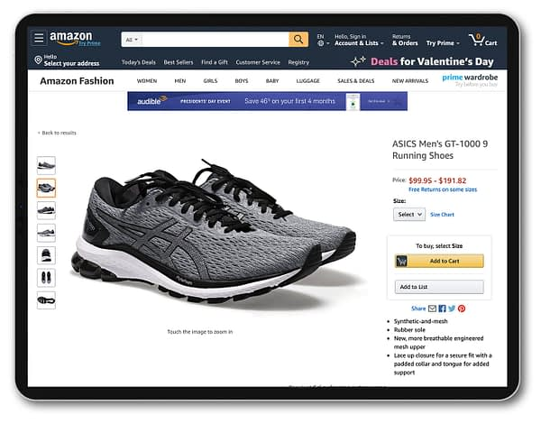 footwear photography for ecommerce with PackshotCreator photo studios