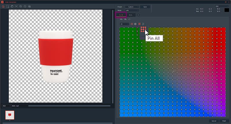 color conversiion feature on software