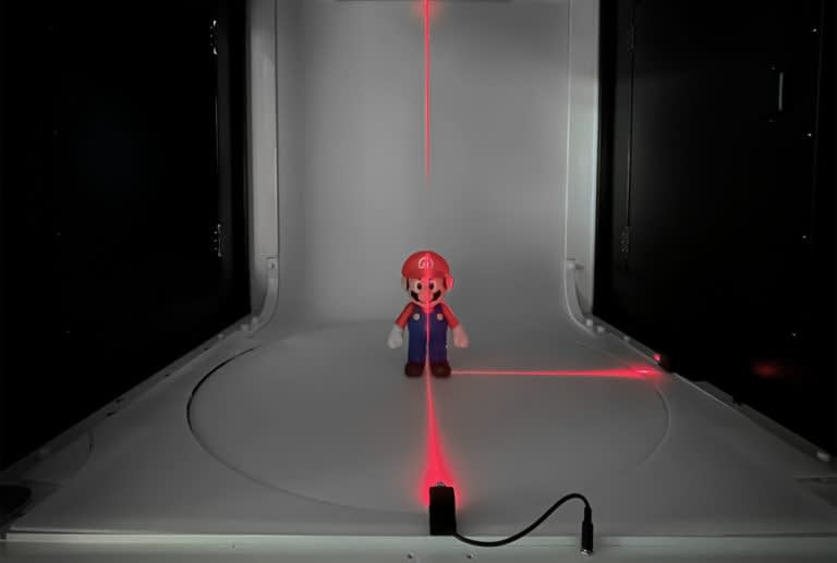 positioning laser product photography