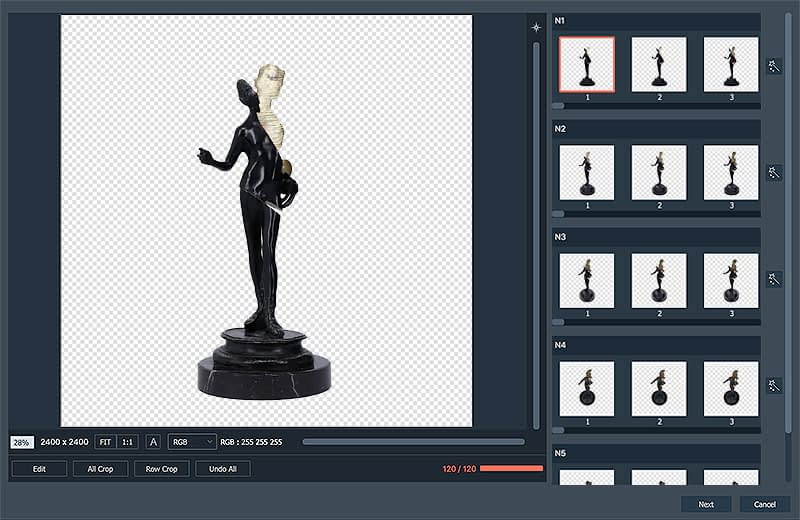 creating a 3D hemispherical animation of antique