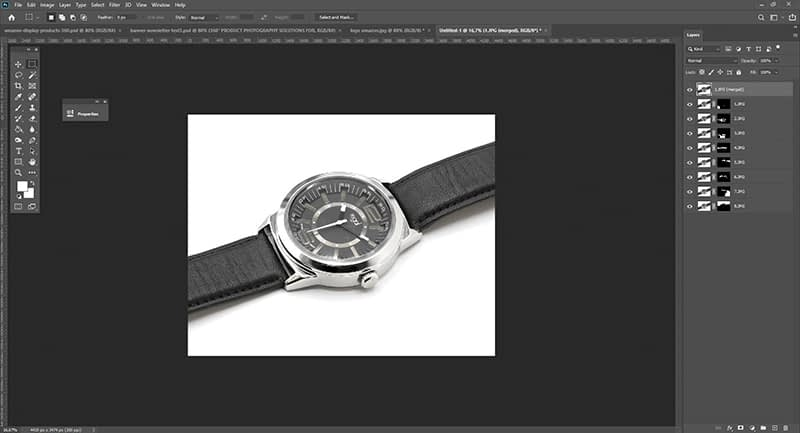 Focus stacking with photoshop step 4