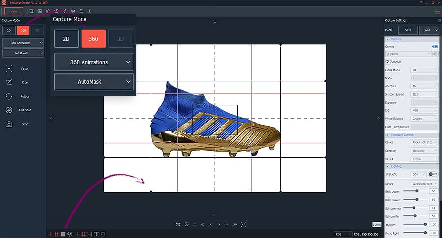 360 shoes animation with AutoMask