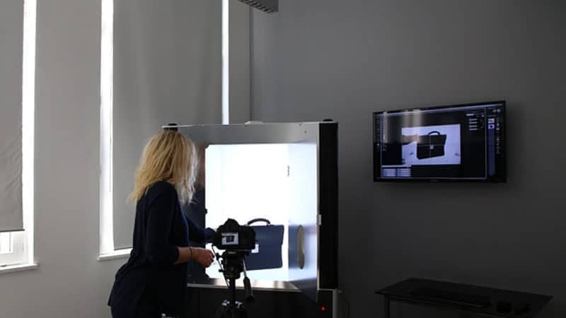 how to shoot leather goods through an automated photo studio